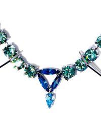 Joomi Lim - Blue Swarovski Crystal Digital Tribe Necklace - Lyst