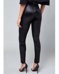Bebe - Black Chintz Velvet Leggings - Lyst