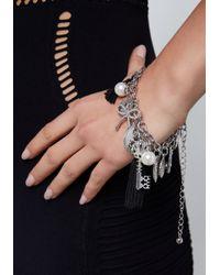 Bebe - Metallic Multi-charm Bracelet - Lyst