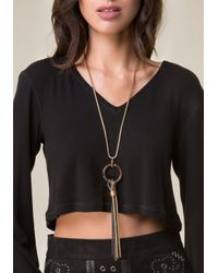 Bebe | Metallic 2-tone Snake Chain Necklace | Lyst