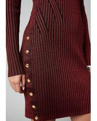 Bebe - Red Cold Shoulder Sweater Dress - Lyst