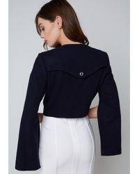 Bebe - Blue Crystal Shoulder Jacket - Lyst
