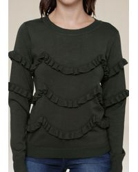 Bebe - Multicolor Ruffle Tiered Sweater - Lyst