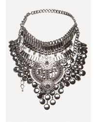 Bebe - Metallic Statement Necklace - Lyst