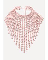 Bebe   Pink Fringe Necklace   Lyst