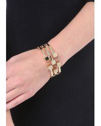 Bebe - Metallic Cube Cutout Hinge Bracelet - Lyst