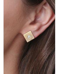Bebe - Metallic Flat Geo Stud Earring Set - Lyst
