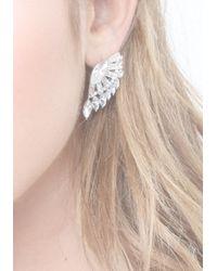Bebe - Metallic Crystal Cluster Earrings - Lyst