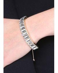 Bebe - Metallic Baguette Stone Bracelet - Lyst