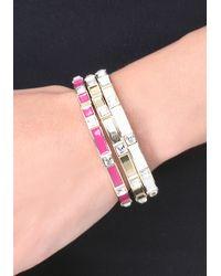 Bebe | Pink Color Enamel Bracelet Set | Lyst