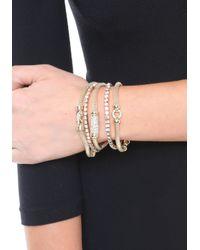 Bebe - Metallic Crystal & Mesh Bracelet Set - Lyst