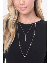 Bebe - Metallic Collar & Lanyard Necklace - Lyst