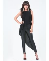 Bebe | Black Asymmetric Sleeveless Tunic | Lyst