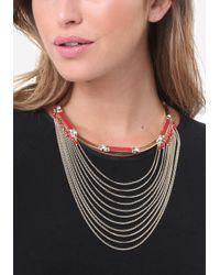 Bebe - Multicolor Draped Chain Necklace - Lyst