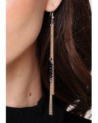 Bebe - Black Stone Earring Set - Lyst