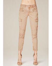 Bebe | Natural Spring Cargo Skinny Pants | Lyst