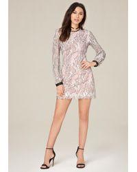 Bebe   Pink Anna Lace Dress   Lyst