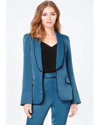 Bebe | Blue Shawl Collar Blazer | Lyst