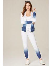 Bebe | Blue Logo Ombre Jogger Pants | Lyst