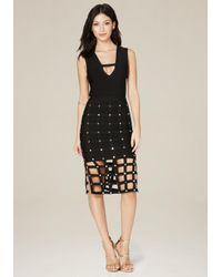 Bebe   Black Sia Cage Skirt Dress   Lyst