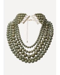 Bebe | Green Beaded Layer Necklace | Lyst