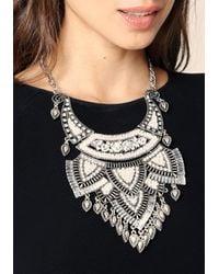 Bebe - Multicolor Crystal Plate Bib Necklace - Lyst