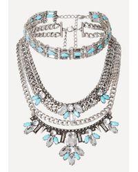 Bebe | Metallic Choker & Statement Necklace | Lyst