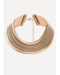 Bebe - Metallic Metal Statement Necklace - Lyst
