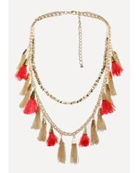 Bebe - Multicolor Tassel Long Necklace - Lyst
