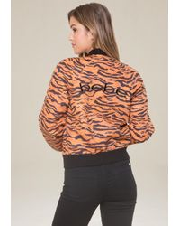 Bebe - Multicolor Logo Tiger Bomber Jacket - Lyst