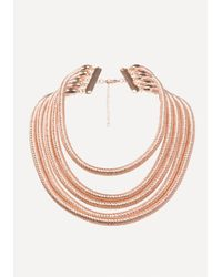 Bebe | Metallic Coil Strand Necklace | Lyst