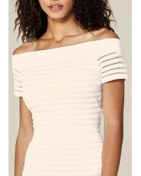 Bebe | Multicolor Off Shoulder Sweater | Lyst