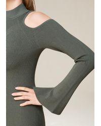 Bebe - Multicolor Cold Shoulder Sweater Dress - Lyst