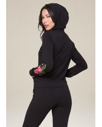 Bebe - Multicolor Logo Embroidered Hoodie - Lyst