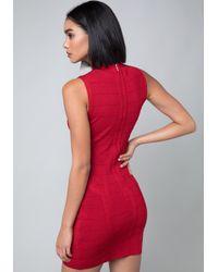 Bebe - Red Saundra Bandage Dress - Lyst