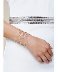 Bebe - Metallic Crystal Loop Cuff - Lyst