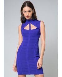 Bebe - Blue Saundra Bandage Dress - Lyst