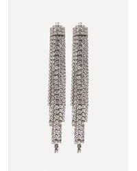 Bebe - Multicolor Crystal Drama Earrings - Lyst