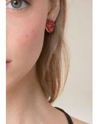 Bebe - Multicolor Lips & Lipstick Earrings - Lyst