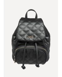 Bebe - Black Quilted Mini Backpack - Lyst