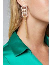 Bebe - Metallic Tassel Crystal Earrings - Lyst