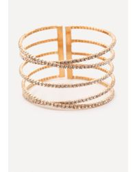 Bebe - Multicolor Crystal Party Cuff - Lyst
