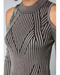 Bebe - Black Cold Shoulder Sweater Dress - Lyst