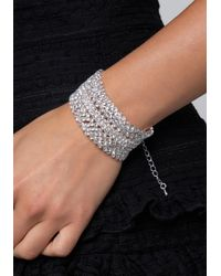 Bebe - Metallic Crystal Statement Bracelet - Lyst