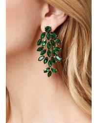 Bebe - Green Crystal Cluster Earrings - Lyst