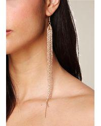 Bebe - Metallic Fringe Duster Earrings - Lyst