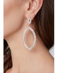 Bebe - Metallic Crystal Marquise Earrings - Lyst