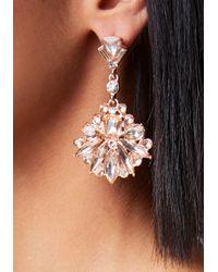 Bebe - Metallic Stone Drop Earrings - Lyst