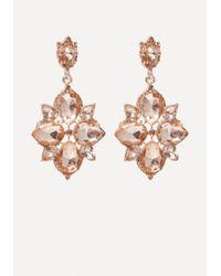 Bebe - Multicolor Starburst Drop Earrings - Lyst