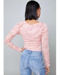 Bebe - Pink Roxy Rouge Top - Lyst